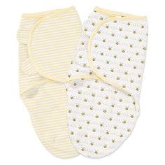 Конверт на липучке SwaddleMe, размер S/M, (3шт), , Summer Infant, нейтральная, пчелки