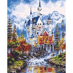 """Холст с красками по номерам """"Величественный замок в горах"""" 40х50 см Рыжий кот"""