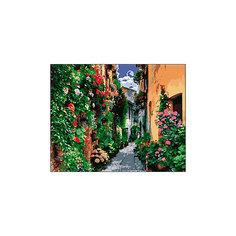 """Холст с красками по номерам """"Европейская улочка"""" 40х50 см Рыжий кот"""