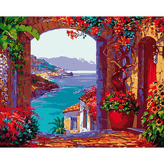 "Холст с красками по номерам ""Романтичный вид на море"" 40х50 см Рыжий кот"