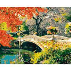 "Холст с красками по номерам ""Романтичный мост"" 40х50 см Рыжий кот"
