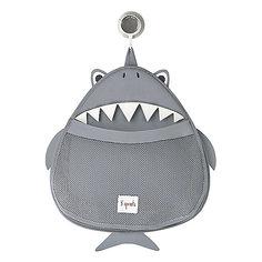 Органайзер для ванной Акула (Grey Shark), 3 Sprouts