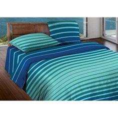 Постельное белье 1,5 сп. Stripe Blue mint БИО Комфорт, Wenge Motion