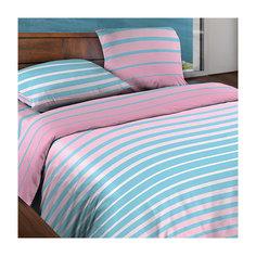 Постельное белье 1,5 сп. Stripe Pink БИО Комфорт, Wenge Motion