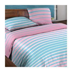 Постельное белье 2,0 сп. Stripe Pink БИО Комфорт, Wenge Motion