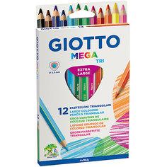 Утолщенные цветные карандаши, 12 шт. Giotto