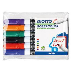 Набор маркеров для белой доски со средним наконечником 6шт Giotto
