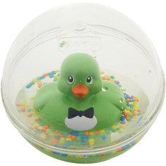 Развивающая игрушка Уточка с плавающими шариками, зеленая, Fisher Price Mattel