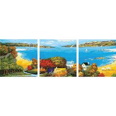 "Роспись по номерам, триптих ""Залив"" 50*50 см (3 картины в наборе) Tukzar"