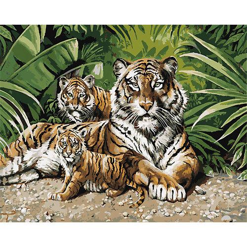 """Роспись по номерам """"Тигры"""" 40*50 см"""