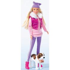 """Кукла """"Штеффи на прогулке с собакой"""", Simba"""