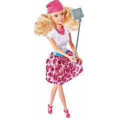 """Кукла """"Штеффи с селфи палкой"""", 29 см, Simba"""