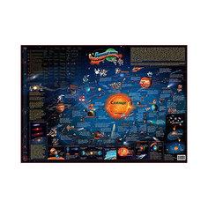 Карта солнечной системы для детей настенная 130 см Бумбарам