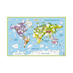 """Карта-раскраска """"Карта мира Животные"""" Бумбарам"""