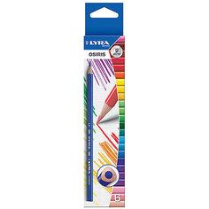 Цветные треугольные карандаши, 6 шт. Lyra