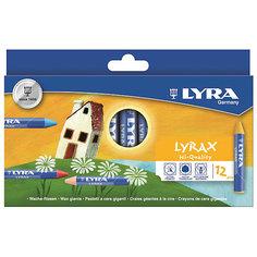 Утолщенные восковые карандаши, 12 шт. Lyra