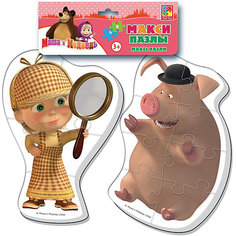 "Мягкие макси-пазлы ""Маша и Медведь"", Vladi Toys"