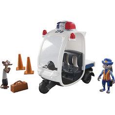 """Игровой набор """"Полицейский мотороллер"""", Зверополис Tomy"""