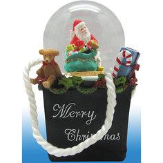 Новогодняя  фигурка с водяным шаром (полирезина,стекло) Феникс Презент