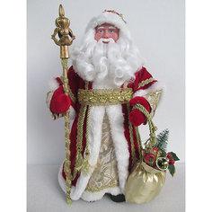 "Новогодняя фигурка ""Дед Мороз в красном костюме"" (30см, из пластика и ткани) Феникс Презент"