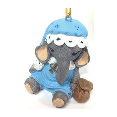 """Украшение """"Слоник в голубой шапочке"""" 5,5*4,5*5,5 см Феникс Презент"""