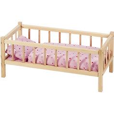 Кроватка для кукол, бук, goki