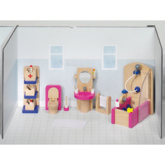Мебель для кукольной ванной комнаты, goki