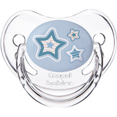Пустышка круглая силиконовая, 6-18 Newborn baby, Canpol Babies, голубой