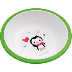 Миска пластиковая Пингвиненок Little cow, 4+ , Canpol Babies, зеленый