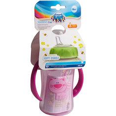 Поильник обучающий с силиконовым носиком и ручками, 320 мл. 6+, Canpol Babies, розовый