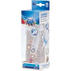 Бутылочка PP EasyStart с широким горлышком антиколиковая, 240 мл, 3+ Newborn baby, Canpol Babies, белый