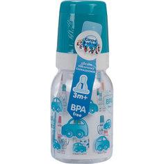 Бутылочка тритановая (BPA 0%) с сил. соской, 120 мл. 3+, Canpol Babies, бирюзовый