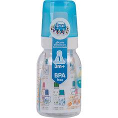 Бутылочка тритановая (BPA 0%) с сил. соской, 120 мл. 3+ Cheerful animals, Canpol Babies, лошадка