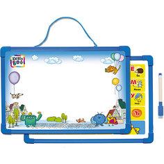 Доска для рисования с алфавитом, с маркером (синяя) Kribly Boo