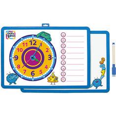 Доска-часы двусторонняя, с маркером (синяя) Kribly Boo