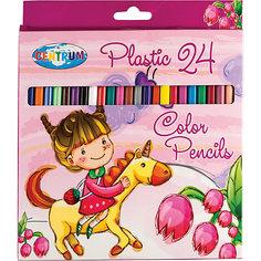 """Цветные карандаши """"Единорог"""", 24 цвета Centrum"""