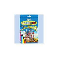 """Цветные карандаши """"Замок"""", 18 цветов Centrum"""
