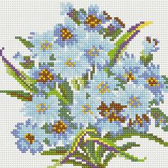 """Алмазная мозаика по номерам """"Голубые цветы"""" 20*20 см (на подрамнике) Tukzar"""