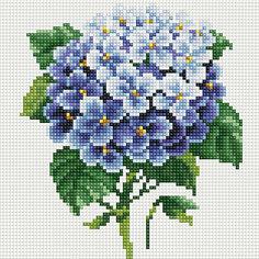 """Алмазная мозаика по номерам """"Синие цветы"""" 20*20 см (на подрамнике) Tukzar"""