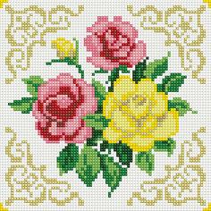 """Алмазная мозаика по номерам """"Букет красные и желтая розы"""" 20*20 см (на подрамнике) Tukzar"""