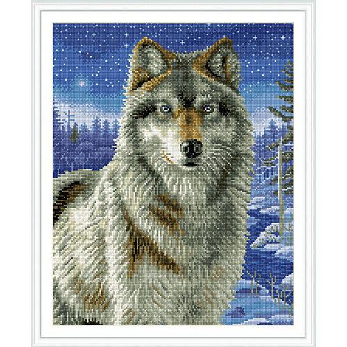 """Алмазная мозаика по номерам """"Волк"""" 40*50 см (на подрамнике)"""