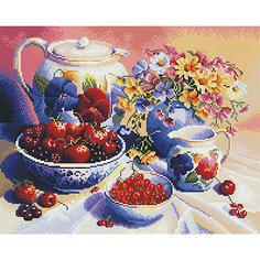 """Алмазная мозаика """"Натюрморт с ягодами"""" 40*50 см Tukzar"""