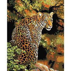 """Алмазная мозаика """"Леопард"""" 40*50 см Tukzar"""