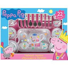 """Набор посуды """"Принцесса Пеппа"""", 22 предмета, Свинка Пеппа Росмэн"""