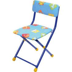 """Складной стул с мягким сиденьем """"КУ1"""" Звери, Ника, синий Nika"""