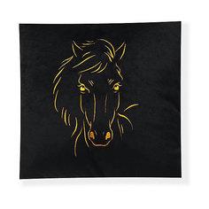 Декоративная подушка Лошадь арт. 1845-1, Small Toys, черный СмолТойс