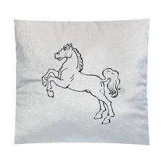 Декоративная подушка Лошадь арт. 1845, Small Toys, молочный СмолТойс