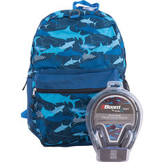 "Рюкзак ""Sharks"" с наушниками, цвет синий Mojo PAX"