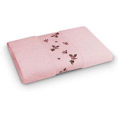 Полотенце махровое 50*90 Розали, Cozy Home, розовый