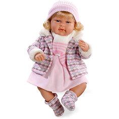 """Кукла Elegance """"Девочка с соской, в теплой курточке"""", смеется, розовый, 45 см , Arias"""